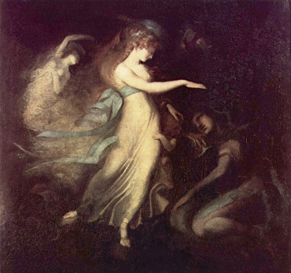 Henry Fuseli, 'Prince Arthur and the Fairy Queen', c. 1788